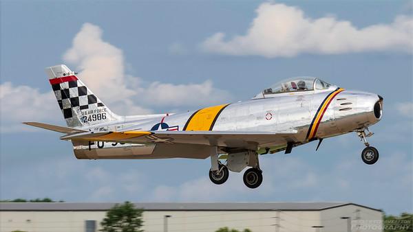 NX188RL . North American F-86F Sabre. USAF. Oshkosh. 260718.