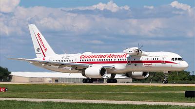 N757HW. Boeing 757-225. Honeywell. Oshkosh. 220718.