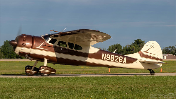 N9826A. Cessna 195. Private. Oshkosh. 250718.