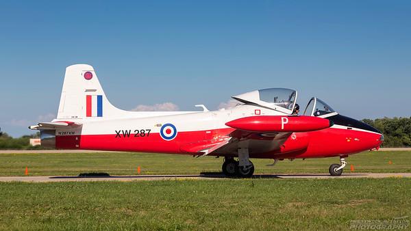 XW287(N287XW). BAC Jet Provost T5A. RAF. Oshkosh. 240718.
