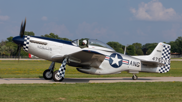 475009 (N51TC). North American P-51D Mustang. USAAF. Oshkosh. 250719.