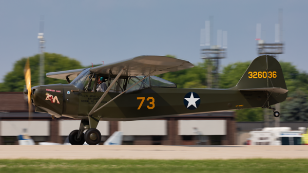 326036 (N50417) Taylorcraft DC-65. US Army. Oshkosh. 240719.
