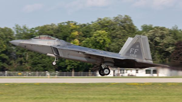 08-4156. Lockheed Martin F-22A Raptor. USAF. Oshkosh. 230719.