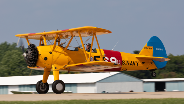 N56914. Boeing A75N1 Stearman. US Navy. Oshkosh. 240719.
