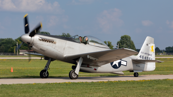464551(N551H). North American P-51H Mustang. USAAF. Oshkosh. 250719.