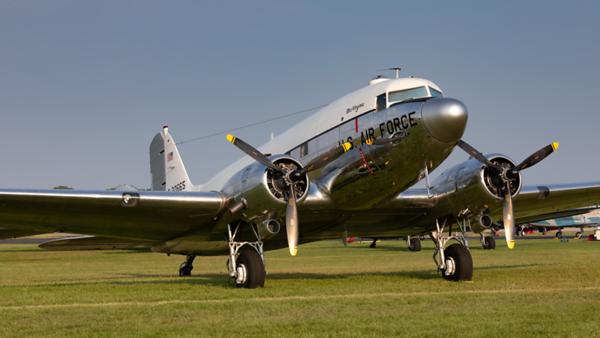 0-30665 (N47E). Douglas DC-3C. USAF. Oshkosh. 240719.