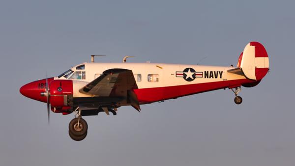 N165X. Beech E18S. US Navy. Oshkosh. 220719.