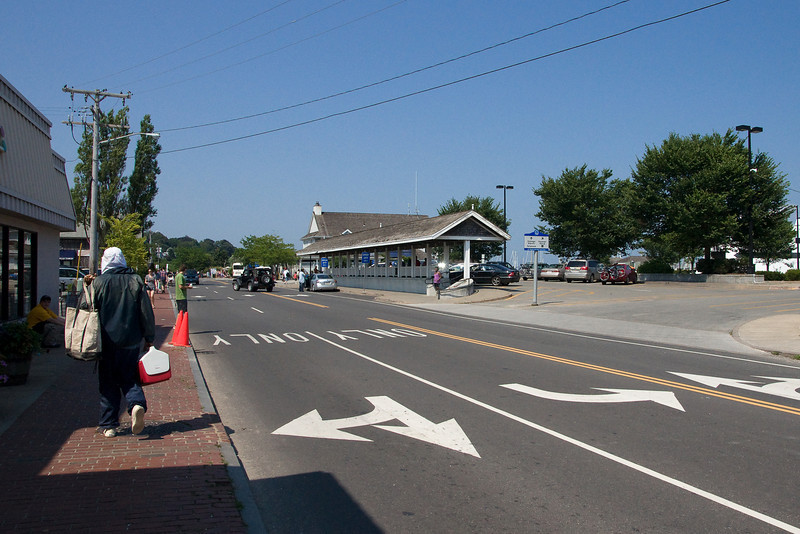 Looking down at the ferry terminal in Vineyard Haven.