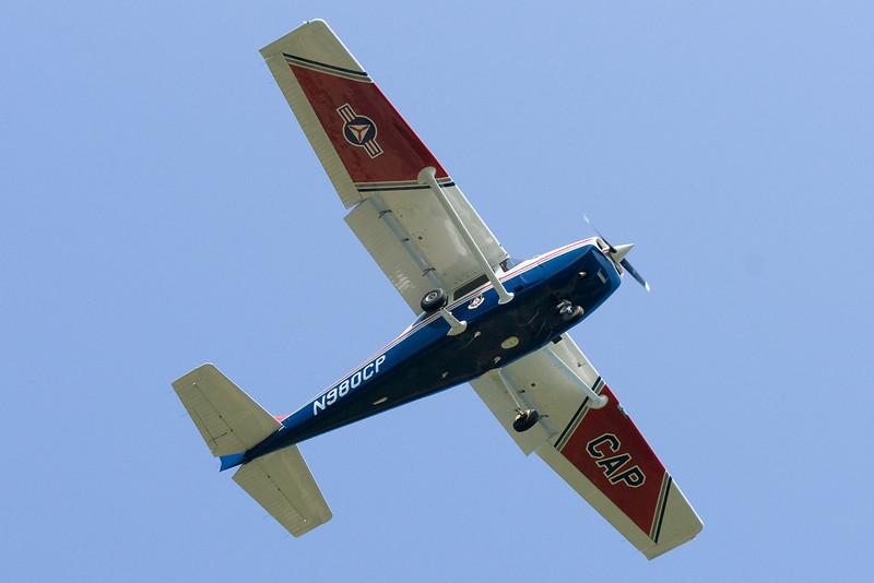 Civil Air Patrol plane on final at MVY.