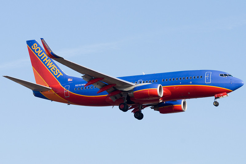 Southwest 737 on final to PVD.