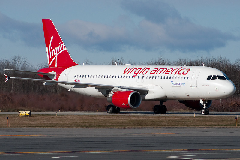 N631VA - Virgin America and Direct Air team up to bring scheduled air service back to Worcester Regional Airport.
