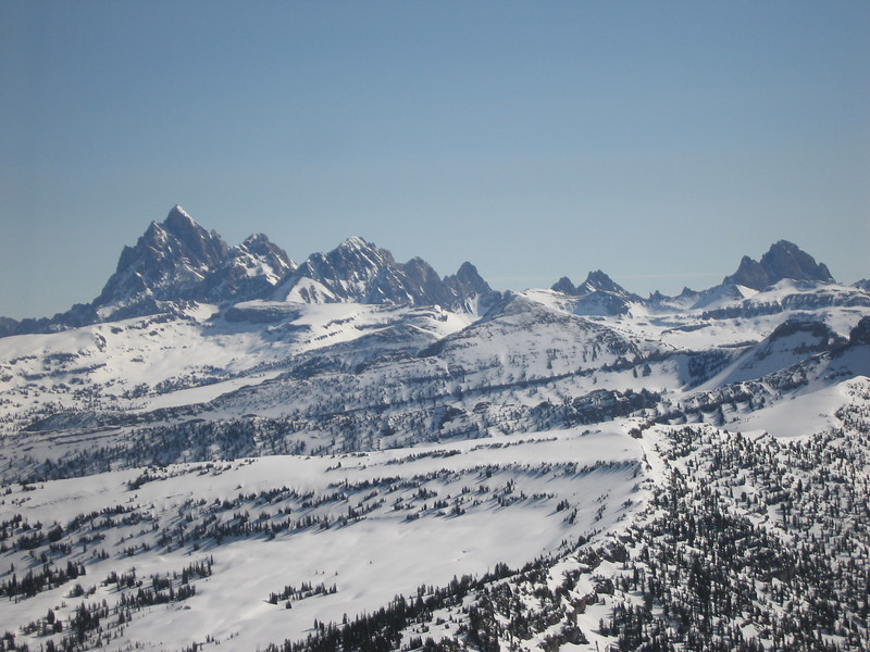 Our first view of the Tetons