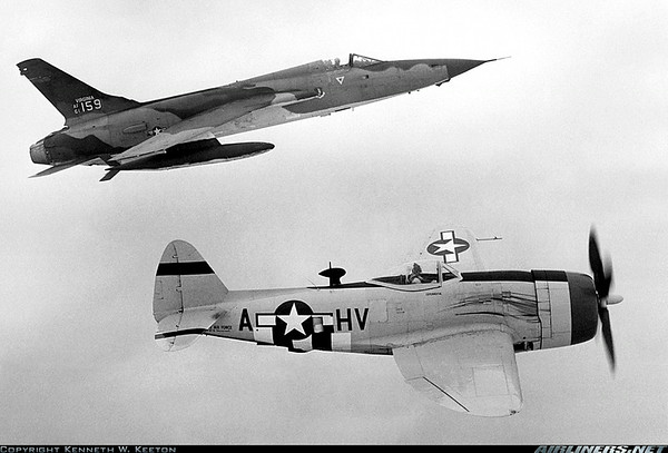 P-47 with Jet Fighter