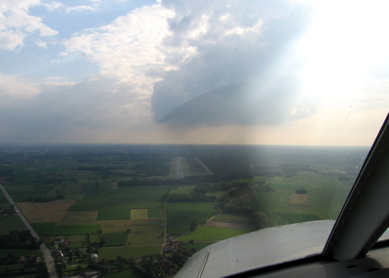 Picture on request :-) Final turn prior to landing on runway 25.