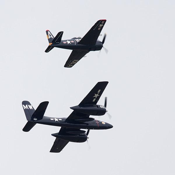 F7F Tigercat & F8F Bearcat from Historic Flight Foundation