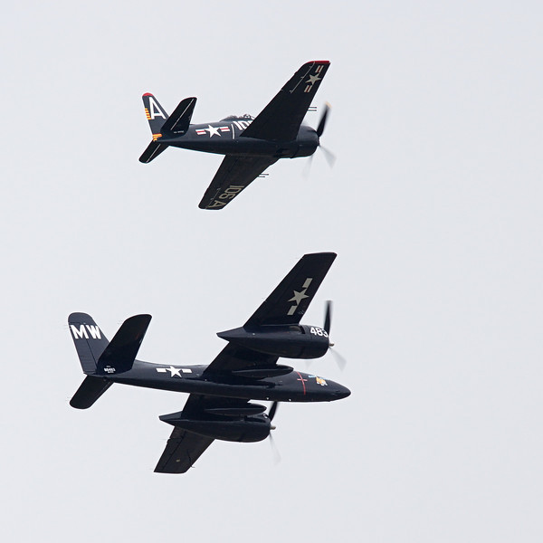 F7F Tigercat & F8F Bearcat from Historic Flight Foundation