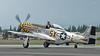 "Bud Granley hamming it up in the P-51D Mustang ""Upapa Epops"""