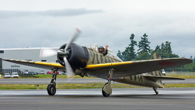 FHC WWII Japanese Zero Mitsubishi A6M3-22 Reisen - pilot Jason Muszala.