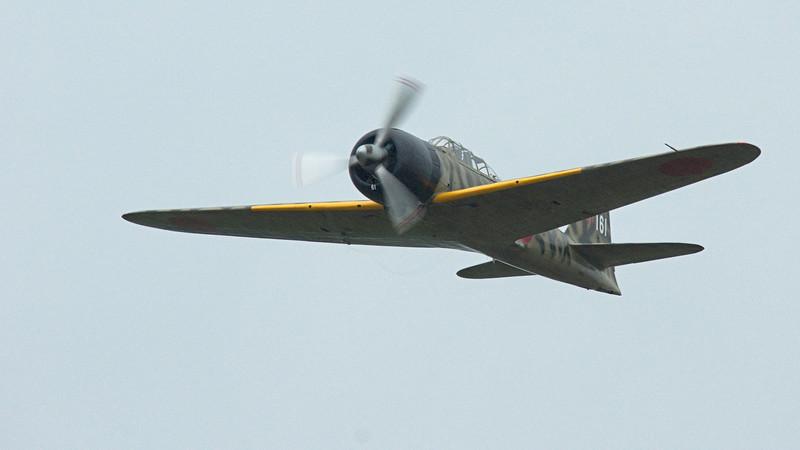 FHC WWII Japanese Zero Mitsubishi A6M3-22 Reisen - a bit of rain streaking in this shot.