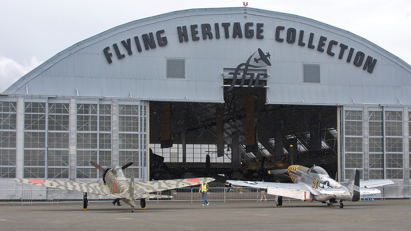 Flying Heritage Collection- rain has started up again.