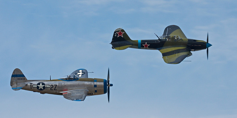 P-47D and IL-2 at FHC Paine Field