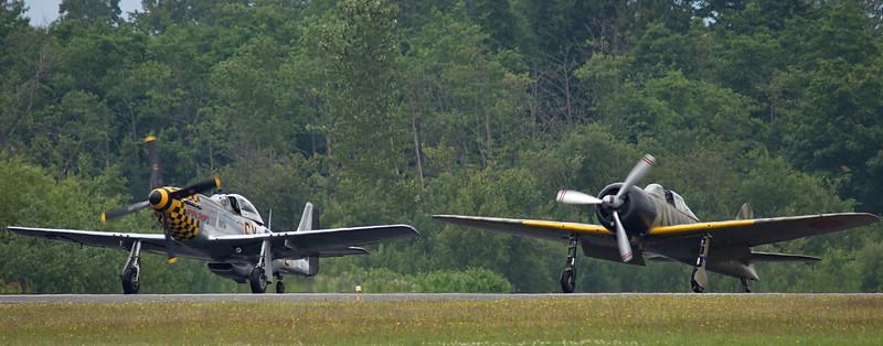 P-51D Mustand and Mitsubishi A6M Zero