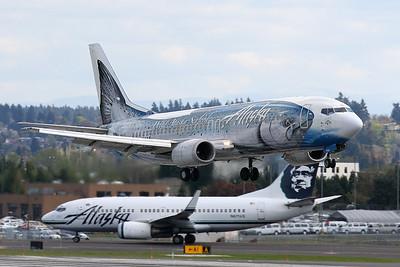 """Boeing 737-490 Alaska Airlines N792AS S/N 28887 """"Wild Alaska Seafood"""""""