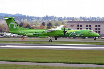 "Bombardier DHC-8-402Q Dash 8 Horizon Air N438QX s/n 4243 ""Comfortably Greener"""