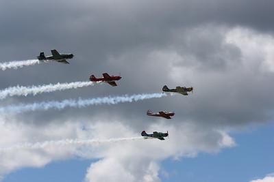 Formation flight.