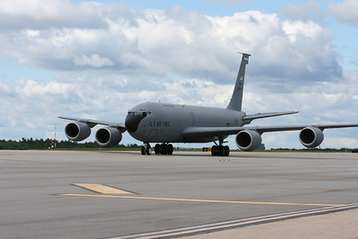 NH ANG KC-135R, used for aerial refueling.  This aircraft departed early to refuel the B-2 bomber on its way to the airshow.  The KC-135R did a flyby and landed after the B-2 completed its run.