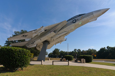 F-14D on a stick at the Naval Aviation Museum, FL