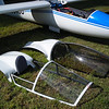 Comparisom of sport canopy to full canopy. Sport canopy frame is spruce and carbon fiber with polycarbonate glazing. Turtle deck is fiberglass with some kevlar reinforcement