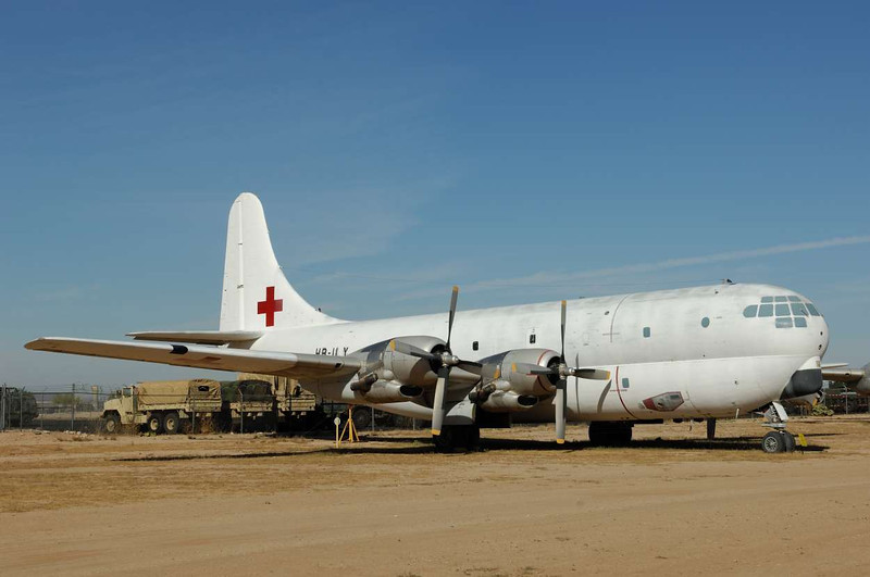 Boeing C-97G Stratofreighter<br /> Serial 52-2626<br /> Used on lease by Balair of Switzerland for relief missions<br /> Markings of International Red Cross, Biafra. 1970