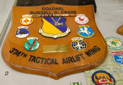 Col Russell D Crane 37rth tactical airlife plaque