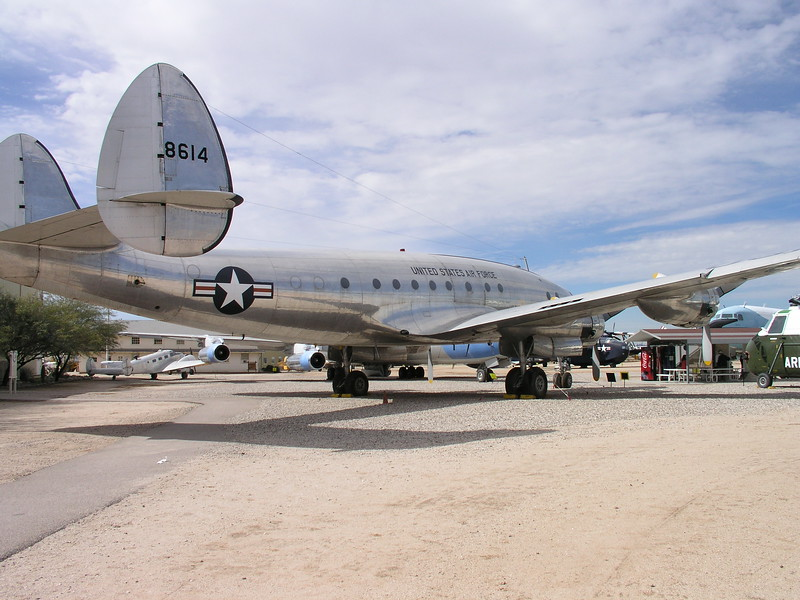 C-121 Super Constellation Lockheed's first big airliner. Pres. Eisenhower flew around on one of these.