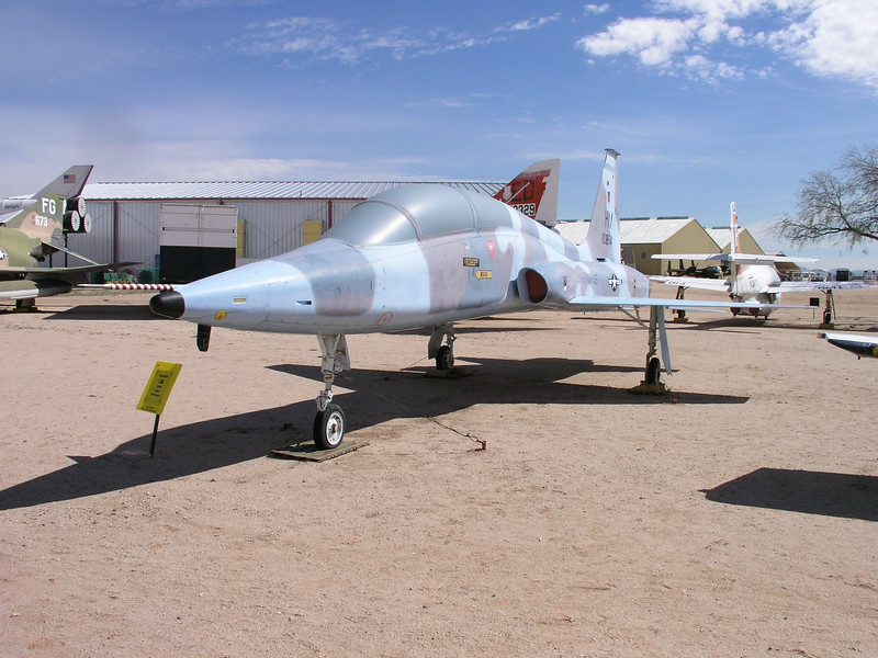 T-38 used in Top Gun school and by the astronauts to keep proficiency up.