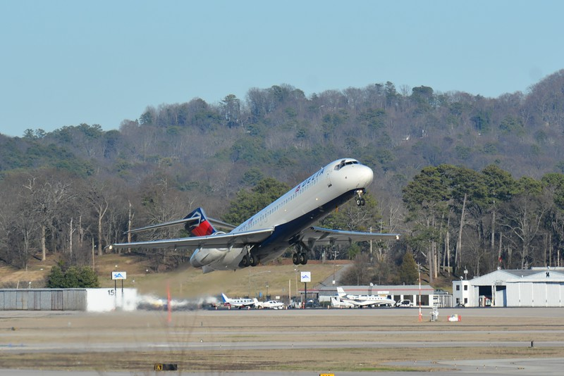 Here is a takeoff of old faithful. This is the airline I love to fly on every chance I get (Delta).