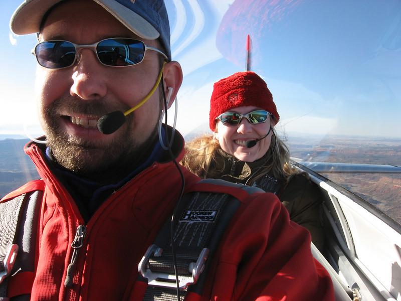 Mer's first flight in Jane Plane.  Valentines day 2009.  Also Jane's first passenger.