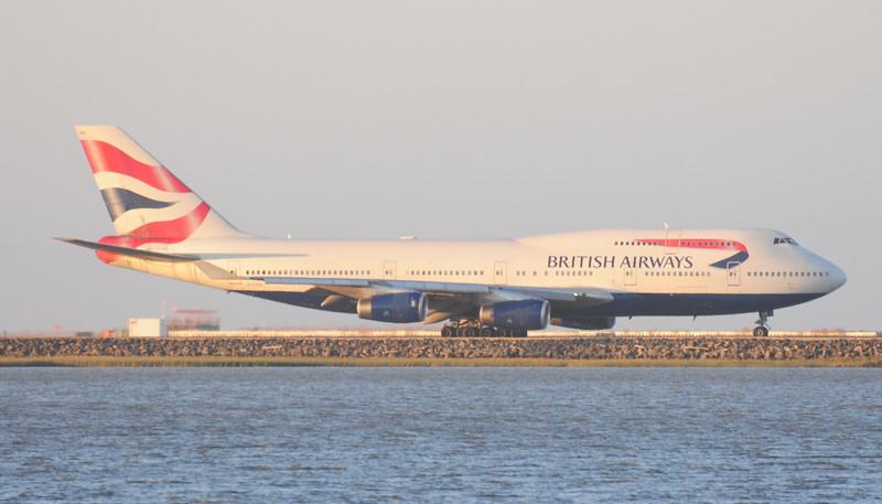 British Airways Boeing 747 at San Francisco International Airport.