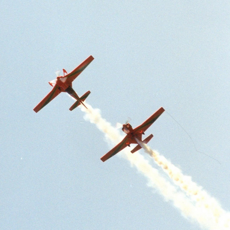 Two CAP-231's of La Marche Verte, the aerobatic team of Moroccon Air Force.
