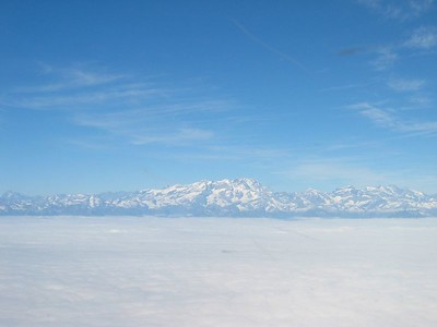 The Mont-Blanc from the south...
