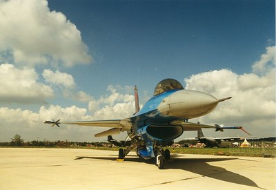 Nothing comes close to the beautiful paintschemes of the Belgian Air Force. F16, 1997.