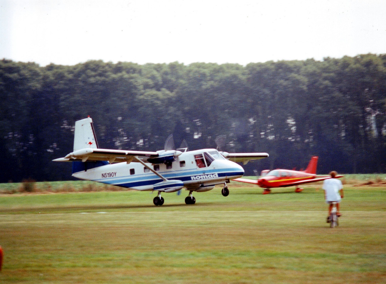 An uncontained engine fire forced the crew to carry out an emergency landing in a field just outside Leopoldsburg in june 2000. Repaired and currently flying again from KJK.