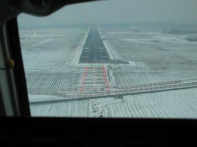 Landing on RWY 25L.