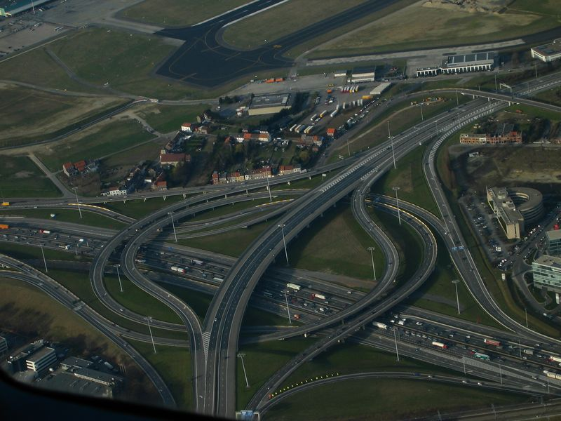 The highway leading to Brussels Airport.