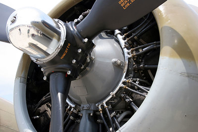 Engine/Prop on a refurbished B24 Liberator circa 1945