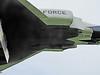 Empty forward Sparrow missile bays
