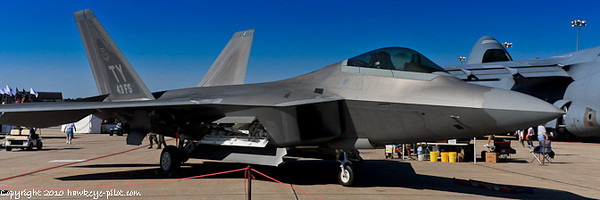 U.S. Air Force F-22 Raptor is striking in its appearance.