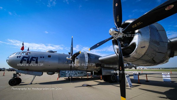 "B-29 ""FIFI"" Commemorative Air Force visit to Omaha, August 2016"