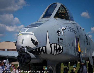 Ever the Warthog! USAF A-10 trying to look tame at Offutt Air Show